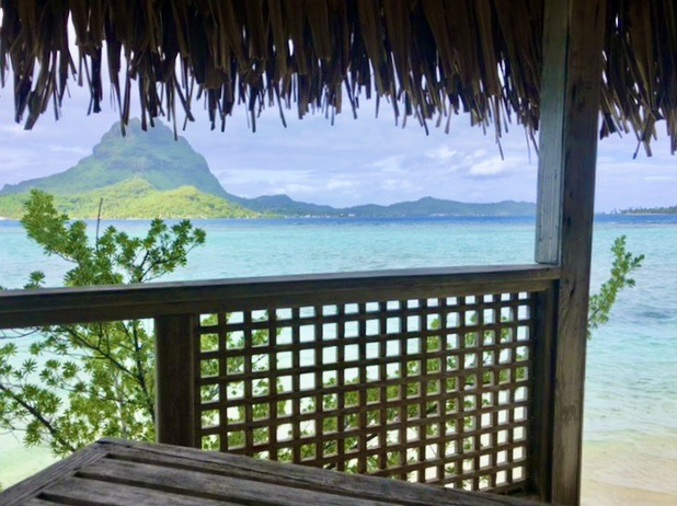 View from one of the resorts in lockdown