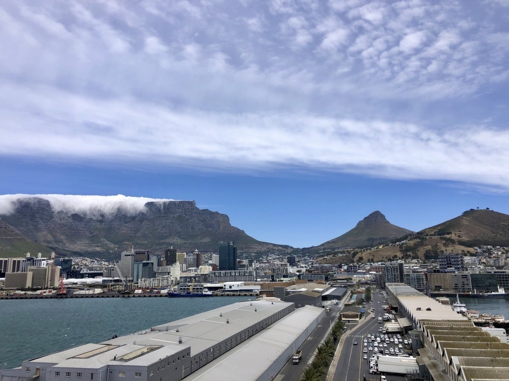 The tablecloth on Table mountain