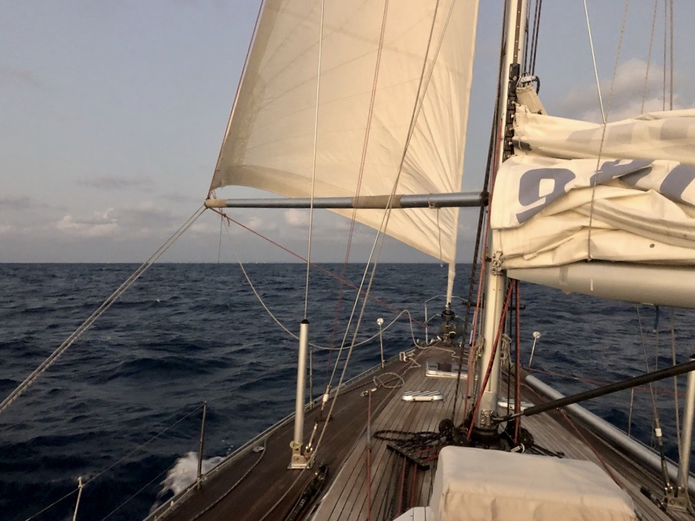 Milanto sails with reduced sails