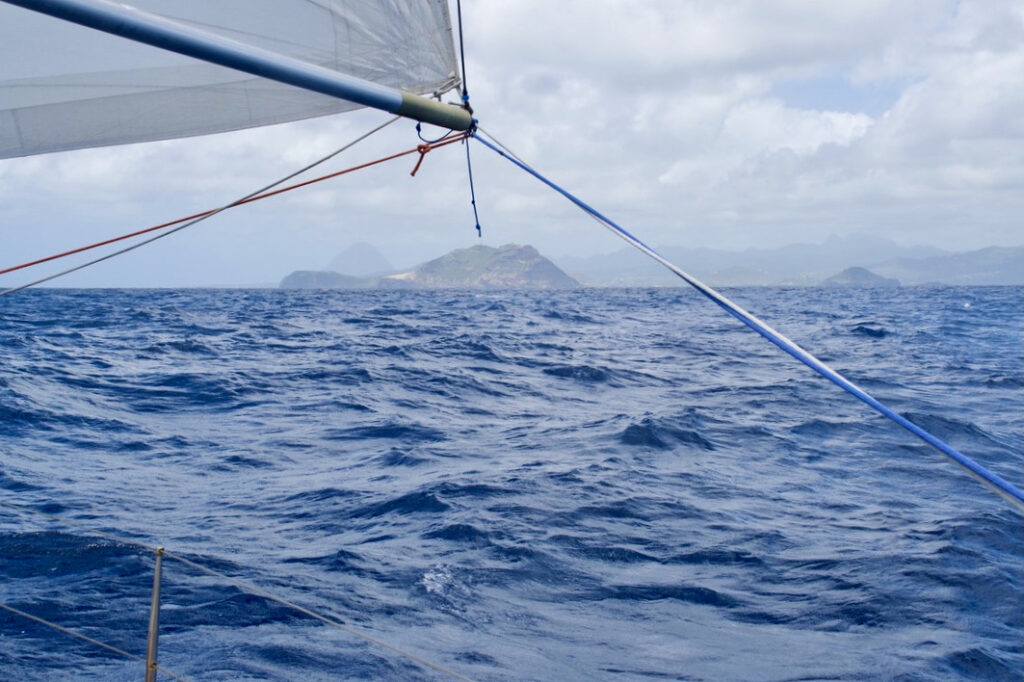 The arrival in Saint Lucia