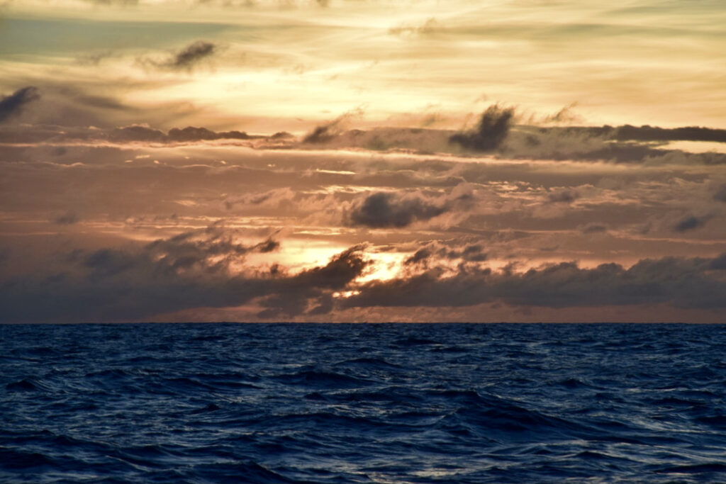 Sunset in the Doldrums
